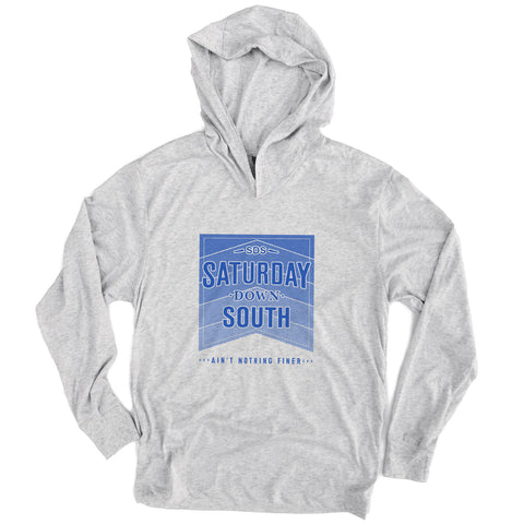 Blue Collection - Stacked Logo Long Sleeve Hoodie T-shirt