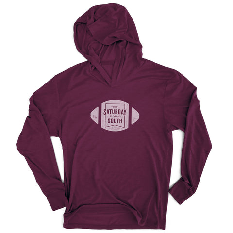 Maroon Collection - Football Badge Long Sleeve Hoodie T-shirt
