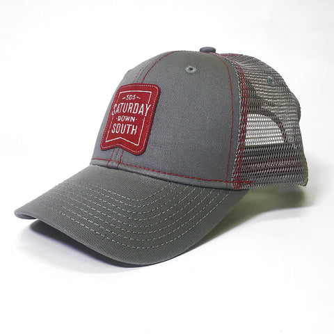 Crimson / Cardinal Collection - Patch Trucker Hat