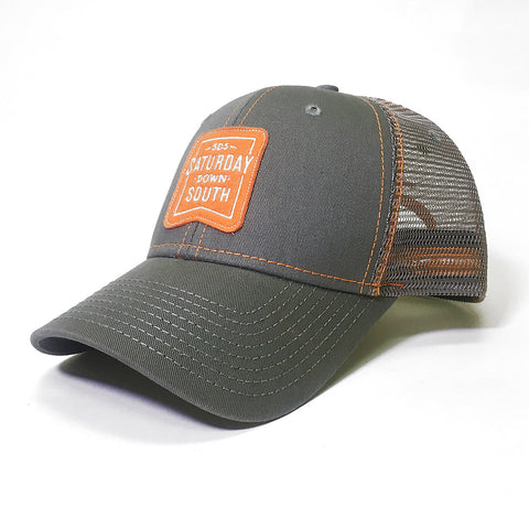 Orange and White Collection - Patch Trucker Hat