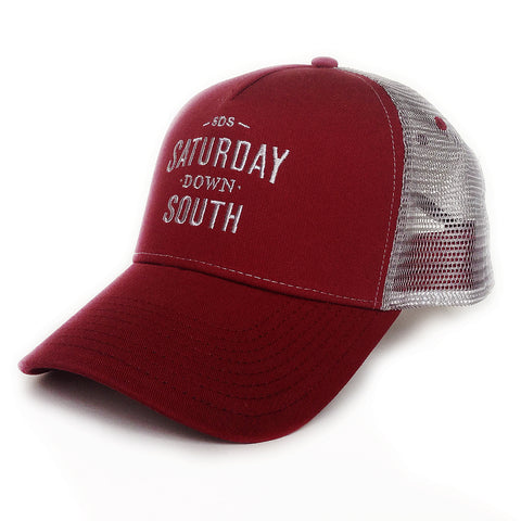 Crimson / Cardinal Collection - SDS Logo Southern Trucker Hat