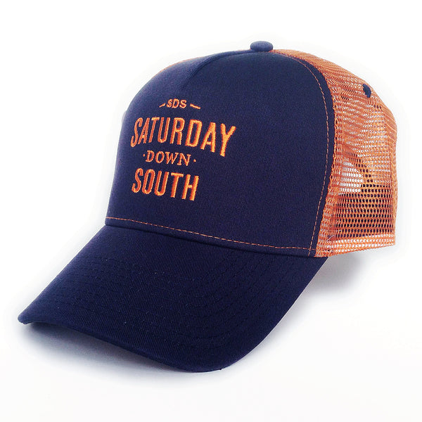 Orange and Blue Collection - SDS Logo Southern Trucker Hat