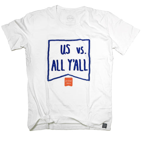 Orange and Blue Collection - Us vs. All Y'all t-shirt