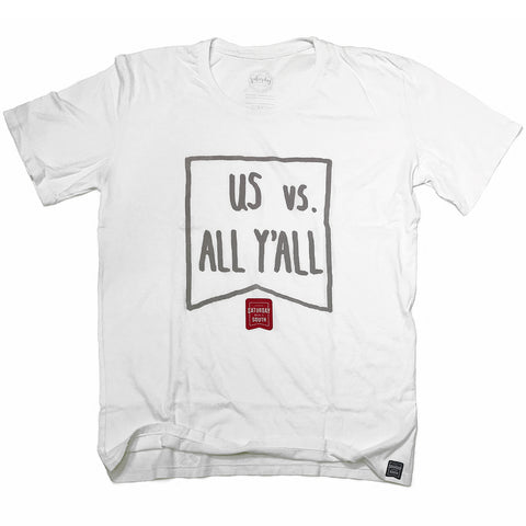 Crimson / Cardinal Collection - Us vs. All Y'all t-shirt