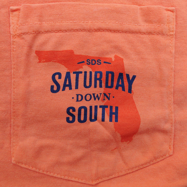 Orange and Blue Collection - Gainesville, FL - Southern Gent Short Sleeve Pocket T-shirt