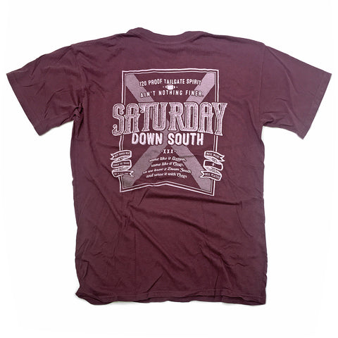 Maroon Collection - Brown or Clear pocket t-shirt