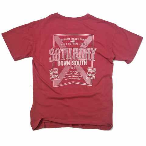 Crimson / Cardinal Collection - Brown or Clear pocket t-shirt