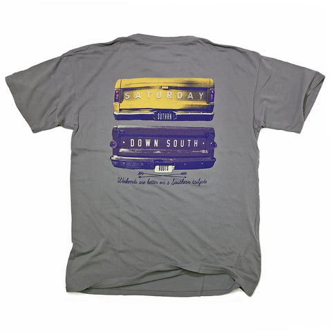 Purple and Gold Collection - Gates of Glory pocket t-shirt