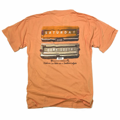 Orange and White Collection - Gates of Glory pocket t-shirt