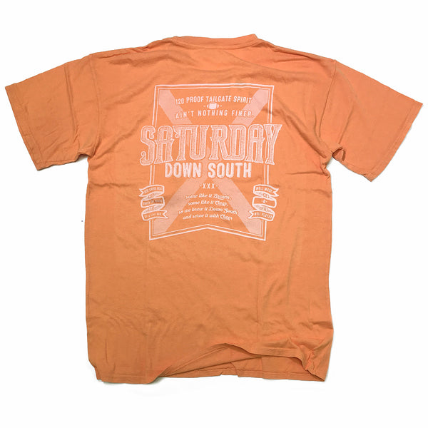 Orange and White Collection - Brown or Clear pocket t-shirt