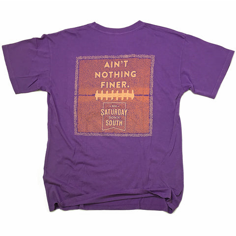 Orange and Purple Collection - Leather and Lace pocket t-shirt