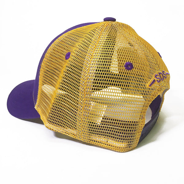 Purple and Gold Collection - SDS Logo Southern Trucker Hat