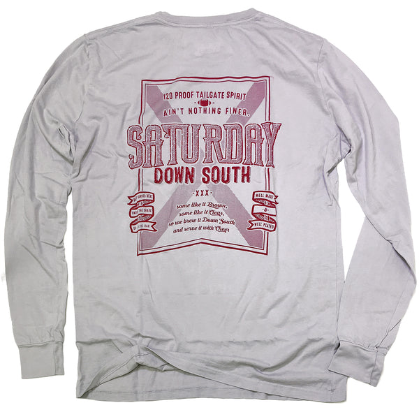 Crimson / Cardinal Collection - Brown or Clear long sleeve pocket t-shirt