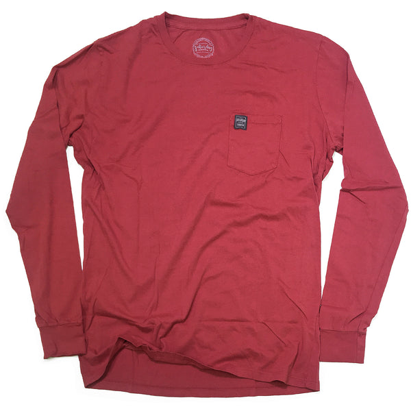 Red Collection - Leather and Lace long sleeve pocket t-shirt