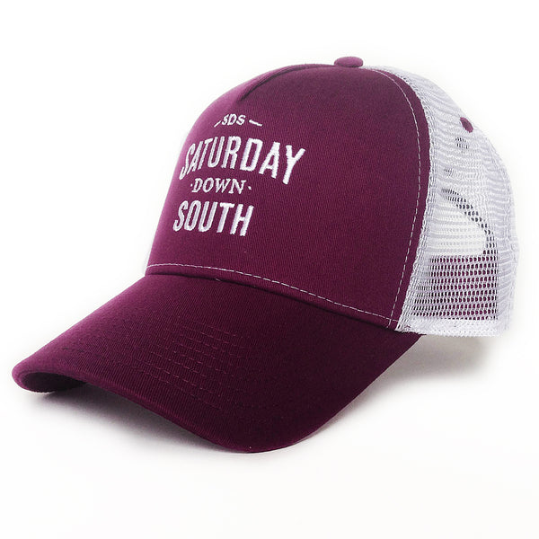 Maroon Collection - SDS Logo Southern Trucker Hat