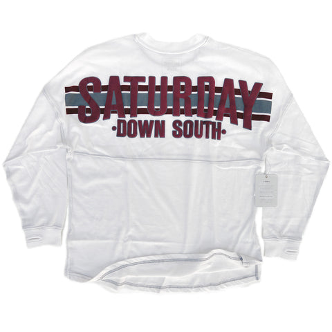 Starkville, MS - Women's Football Stripe Comfort Jersey