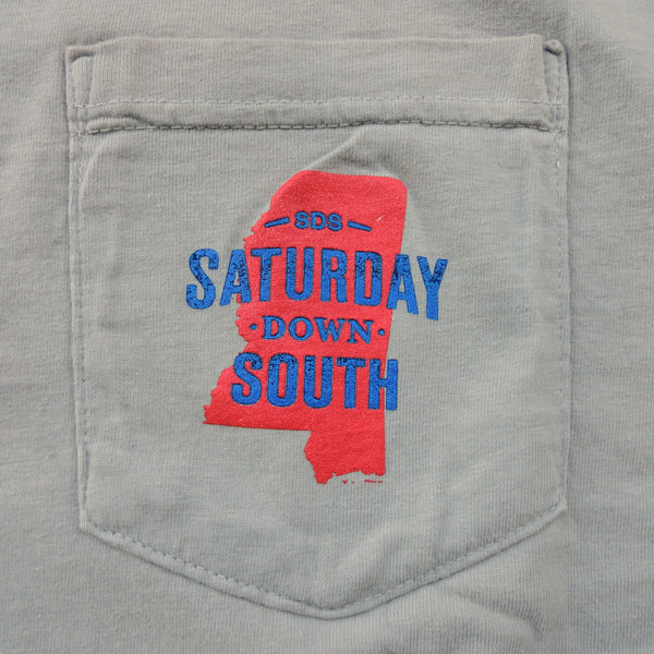 Red and Blue Collection - Oxford, MS - Seersucker State Long Sleeve Comfort T-shirt
