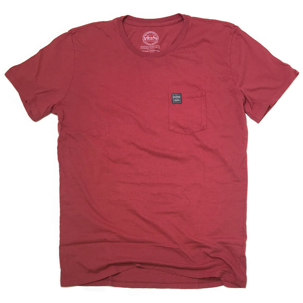 Crimson / Cardinal Collection Collection - Shell Stripe pocket t-shirt