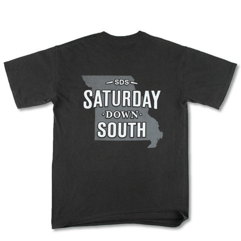 Black and Gold Collection - Columbia, MO - Saturday State Short Sleeve Pocket T-shirt