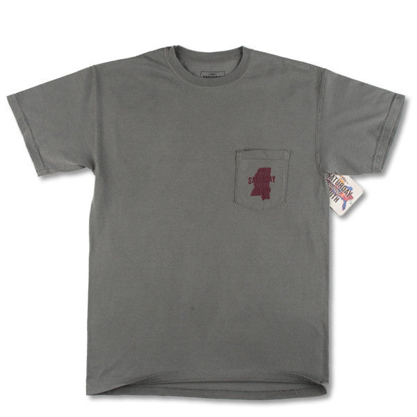 Maroon Collection - Starkville, MS - Saturday State Short Sleeve Pocket T-shirt