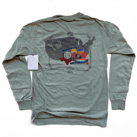 Athens, GA - SDS Nation Longsleeve Pocket Tee