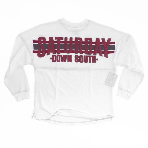 Maroon Collection - College Station, TX - Football Stripe Womens Comfort Jersey