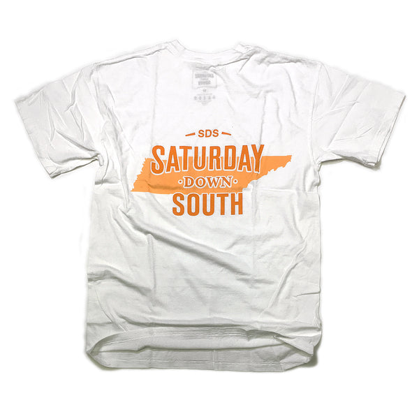 Orange and White Collection - Knoxville, TN - Saturday State Short Sleeve Pocket T-shirt