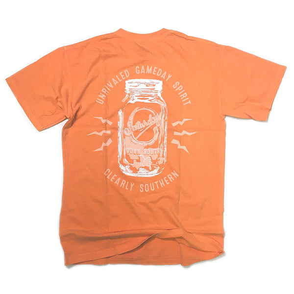 Orange and White Collection - Knoxville, TN - Mason Jar Short Sleeve Comfort T-shirt