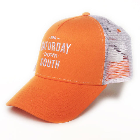 Orange and White Collection - SDS Logo Southern Trucker Hat