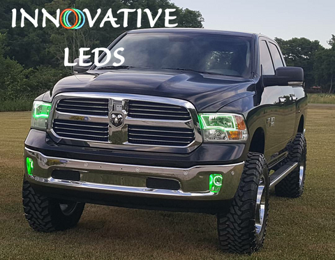 DODGE RAM 2009-2015 QUAD - RGB Halo Kits - INNOVATIVE LEDS