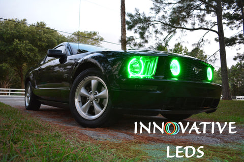 FORD MUSTANG GT 2005-2009 PRE-MADE FOG LIGHTS - RGB Halo Kits - INNOVATIVE LEDS