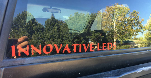 "FREE ""INNOVATIVE LEDS"" VINYL DECAL WITH ANY PURCHASE"