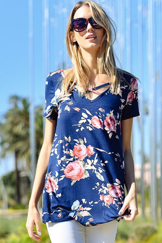 Floral Strappy Tee