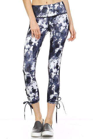 Paint Splatter Tie-Up Capris