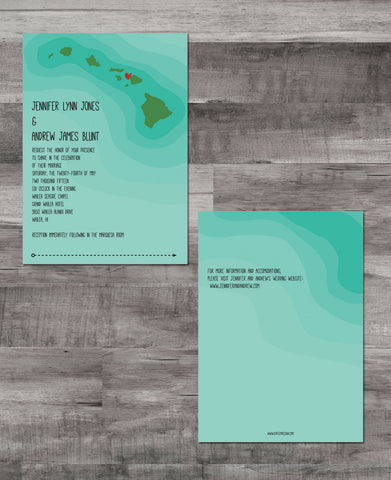 HAWAIIAN OCEAN RIPPLES INVITATION SUITE