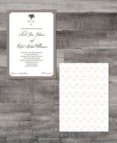 ELEGANT PALMS INVITATION SUITE