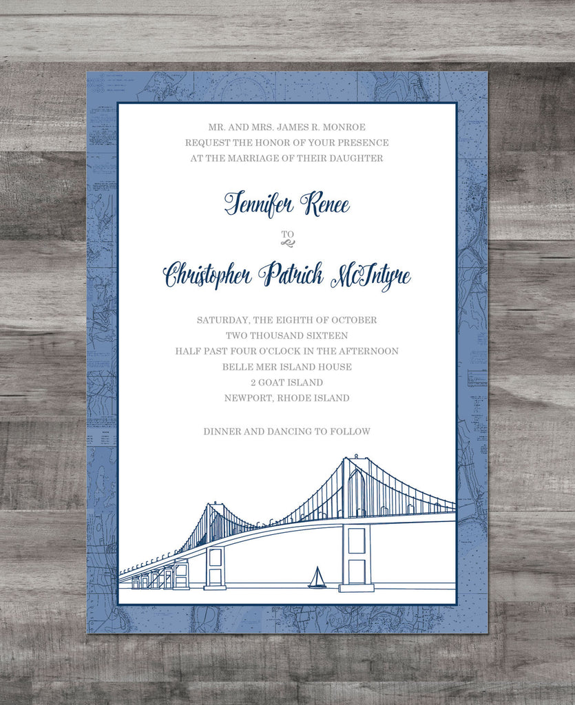 newport nautical chart invitation suite katlem design With nautical chart wedding invitations