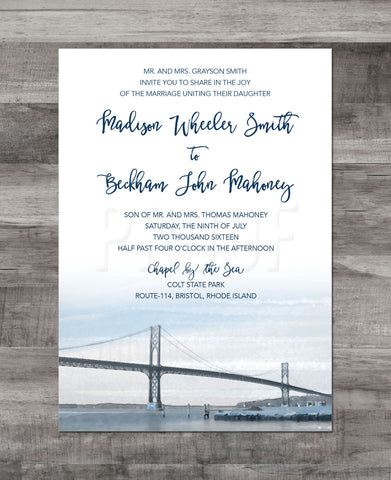 MOUNT HOPE BRIDGE INVITATION SUITE