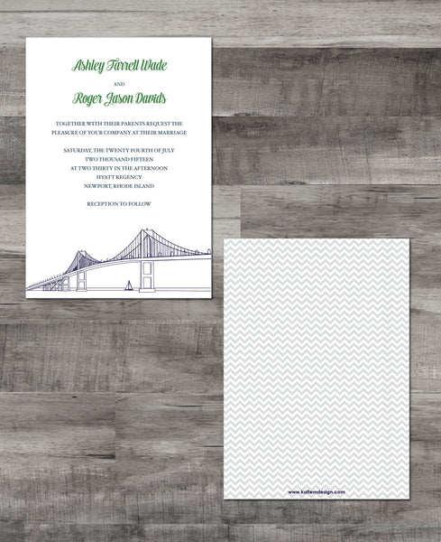 NEWPORT BRIDGE INVITATION SUITE