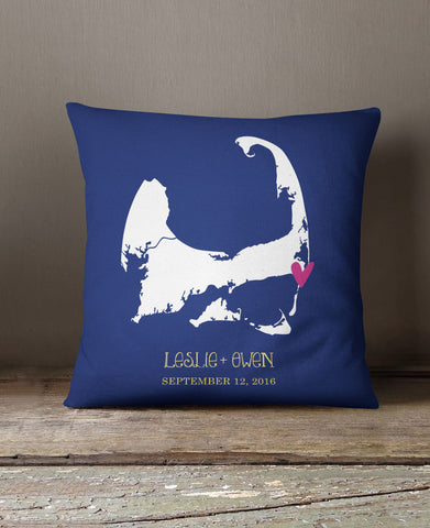 CAPE COD MAP PILLOW