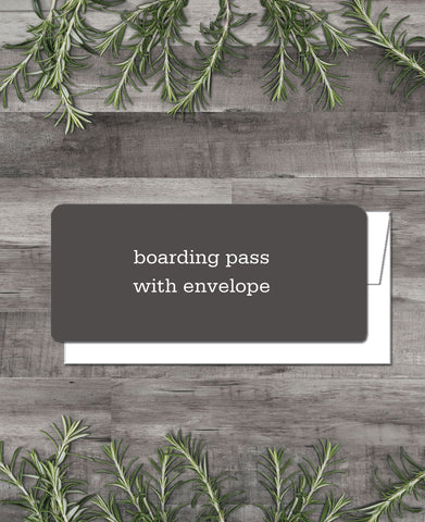 ETSY CLIENT PRINTING -BOARDING PASS INVITATIONS