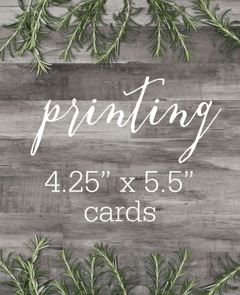 ETSY CLIENT PRINTING - MEDIUM CARDS