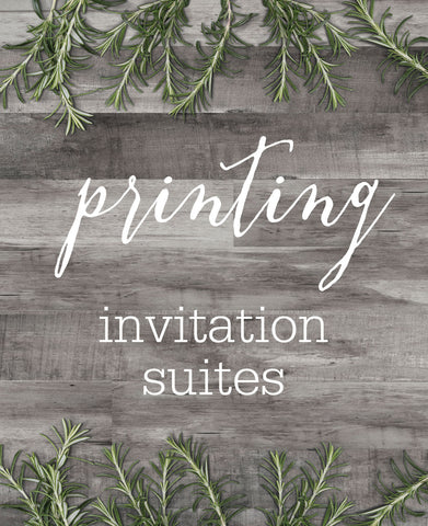 ETSY CLIENT PRINTING - INVITATIONS