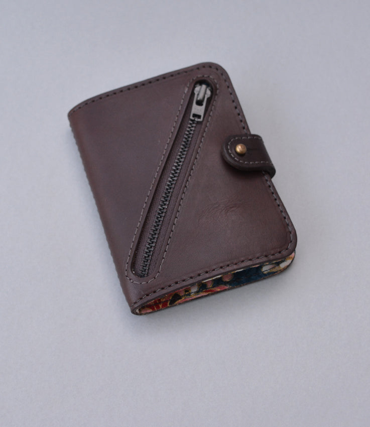 Pocket wallet in brown