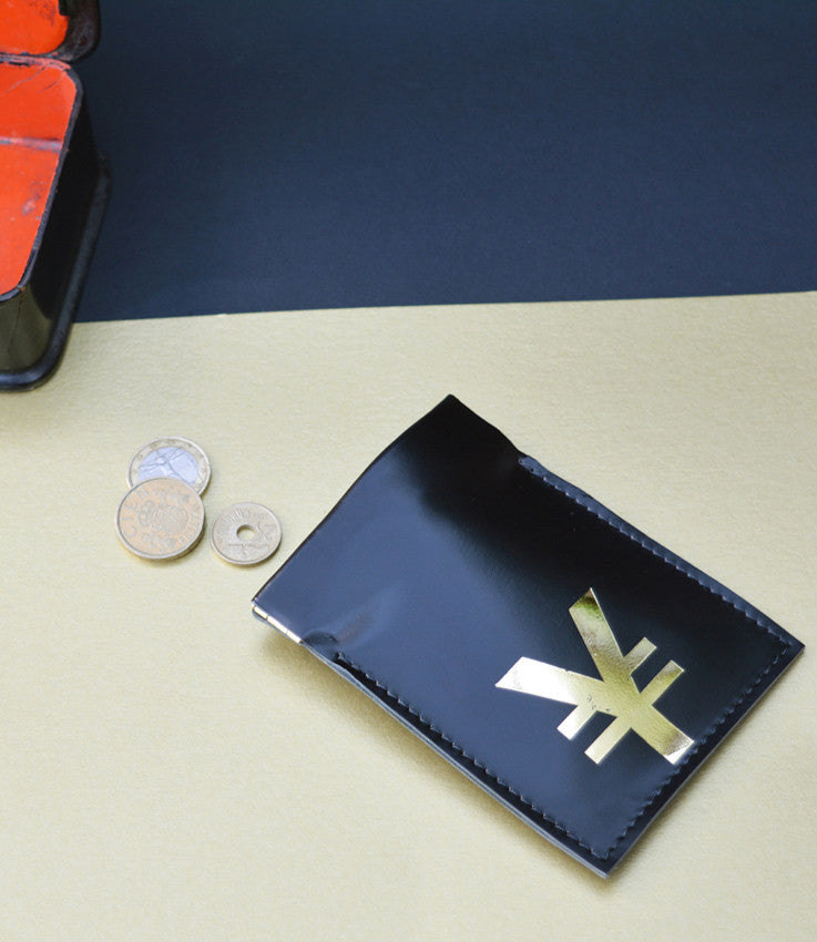 Coin pouch in black