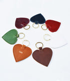 Personalised large Heart Keyrings