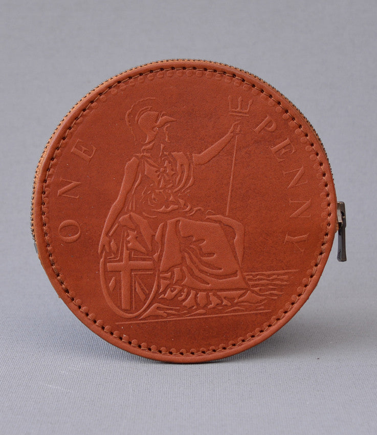Tan One Penny Coin Purse