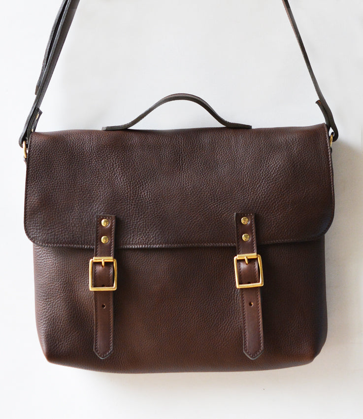 Escape map leather satchel bag