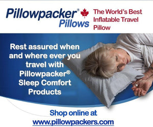 A pillowpacker pillow is the most comfortable travel pillow