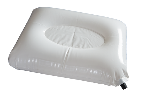 The inflatable contoured inner pillow supports the neck and is customizable to your sleeping preferences